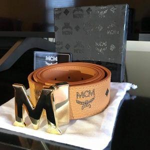 MCM Belt Tan